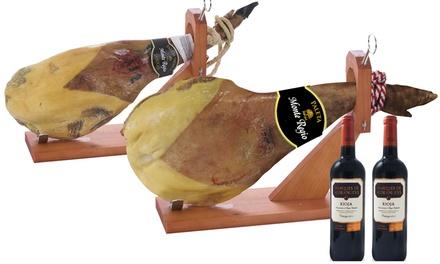 Paleta serrana ou ibérica e duas garrafas de vinho Rioja desde 44,90€