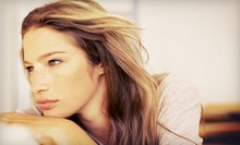 Haircut and Deep-Conditioning Treatment with Optional Partial Highlights at Tryangles (Up to 63% Off)