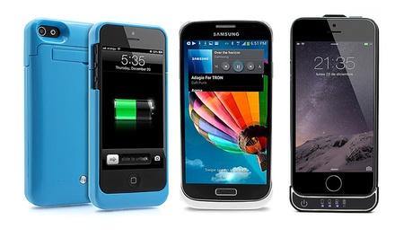 Capa com bateria para iPhone ou Samsung Galaxy desde 12,90€