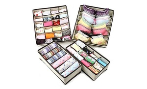4-pack Of Collapsible Drawer Organizers