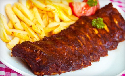 $7 for $15 Worth of Burgers, Baby Back Ribs, and Barbecue at Alfie's Inn