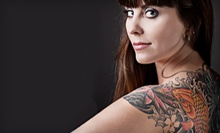 One-Hour Tattoo Session, Tattoo with Up to 12 Characters, or Three-Hour Tattoo Party at Blue Tattoo Cafe (Up to 80% Off)