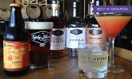 Tours with Drinks at Lucky Bucket Brewing and Cut Spike Distillery (61% Off)