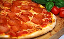 Pizza Meal with Salad, Garlic Cheese Bread, and Beer for Two or Four at Biggies Pizza &amp; Wings (Up to 55% Off)