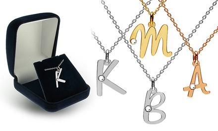 1 ou 2 colares personalizados com pendente em forma de letra e cristal desde 14,99€