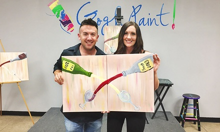 $22 for a Three-Hour BYOB Canvas-Painting Class for One at Gogh Paint ($40 Value)