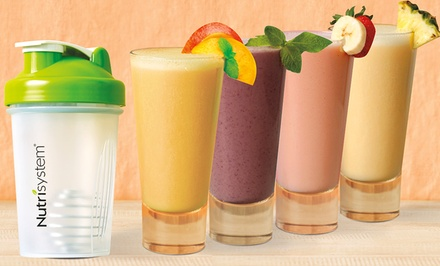 $34.99 for a 28-Pack Fruit-Smoothie Variety Sampler with Shaker Bottle from Nutrisystem ($69.99 Value)