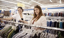 Gently Used Apparel and Accessories at ThriftSmart (Half Off). Two Options Available.