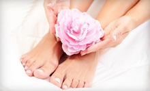 Express Pedicure with Option of Express Manicure, or Full-Set of Acrylic Nails at Salon 21 (Half Off)