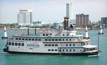"Moonlight Cruise for Two or Four on the ""Detroit Princess"" Riverboat (Up to 54% Off)"