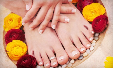 One or Three Mani-Pedis at All About You Day Spa (Up to 62% Off)