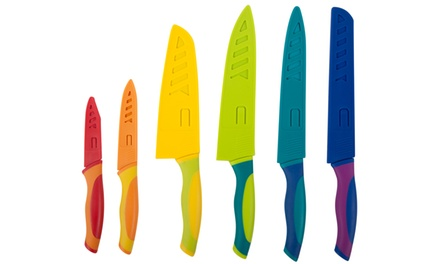 Set of 6 Core Kitchen Knives with Sheaths