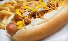 Hot Dogs and Sandwiches at Capital Pub and Hot Dog (Half Off). Two Options Available.