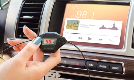 Okra Universal FM Transmitter and USB Car Charger