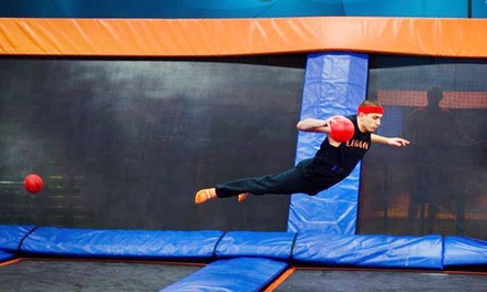 Two 60- or 90-Minute Indoor Jump Passes or Party Package for 10 at Sky Zone Boston Heights (Up to 43% Off)