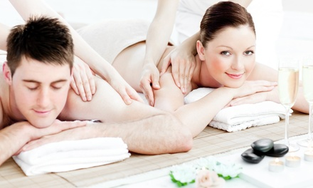 One or Three 60-Minute Couples Swedish Massages at The Massage Center (50% Off)