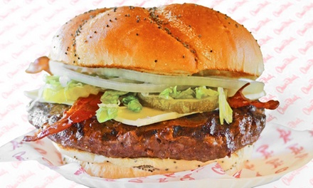 $16 for Four Groupons, Each Good for $7 Worth of Burgers and Drinks at Char Hut ($28 Total Value)