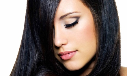 Haircut Packages or Keratin Complex Treatment at Eco Chic Salon (Up to 72% Off). Three Options Available.