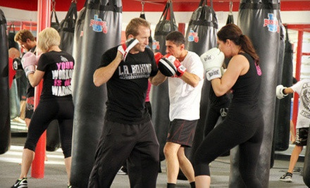 10 or 20 Boot-Camp, Boxing, or Kickboxing Classes at LA Boxing (Up to 86% Off)