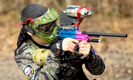 All-Day Paintball Experience with Rental Equipment for Three, Five, or Ten at Paintball Asylum (Up to 73% Off)