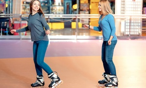 $30 For Family Fun Pack For 4 With Roller Skating, Laser Tag, And Game Tokens (up To $75 Value)