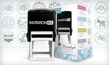 $29 for a Self-Inking Stamper with Personalized Stamp Face from InvitationBox.com ($49.99 Value). Free Shipping.