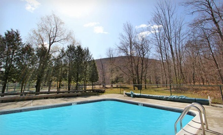 groupon daily deal - 1-, 2-, or 3-Night Stay for Two with Optional Fitness Package at Hunter Mountain Hotel & Retreat in Hunter, NY