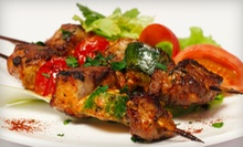 $19.99 for a Mediterranean Dinner for Two at Shish Kabob Caf ($41.06 Value)