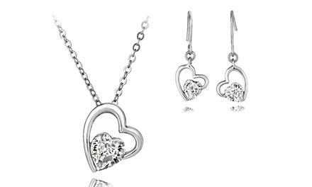 Conjunto de duas peças Heart Drop com Swarovski Elements por 8,99€