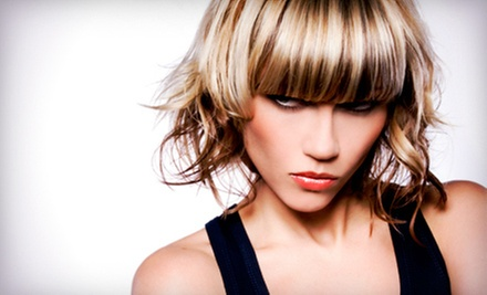 Conditioning Treatment, Cut, and Style with Optional Partial or Full Highlights at Tangerine Hair Salon (Up to 61% Off)