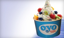 $12 for a Five-Visit Frozen-Yogurt Punch Card at O-Yo Frozen Yogurt ($25 Value)