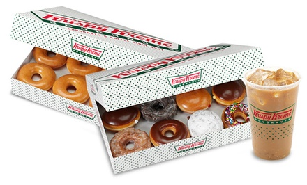 $10 for $20 Worth of Doughnuts and Beverages at Krispy Kreme (50% Off)