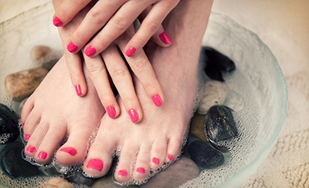 Mani-Pedi with Optional Shellac Mani and Spa Pedi Upgrades, or Princess Makeover Party at Mid City Salon (Up to 55% Off)