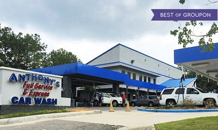 $15 for an Anthony's Famous Wash at Anthony's Full Service & Express Car Wash ($30 Value)