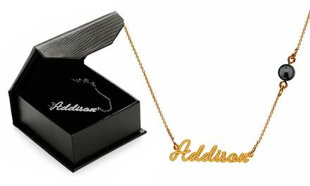 Colar personalizado com nome e uma pérola Swarovski por 14,90€ ou dois colares por 24,90€