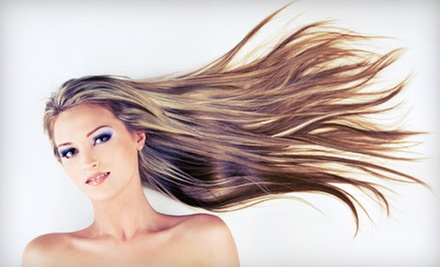 Haircut Package with Style and Optional Partial or Full Highlights at Sybil Salon & Spa (Up to 57% Off)