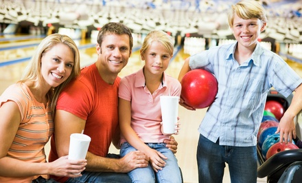 Two Games of Bowling for Four or Eight with Pitchers of Soda and Pizza  at Lighthouse Lanes (Up to 55% Off)