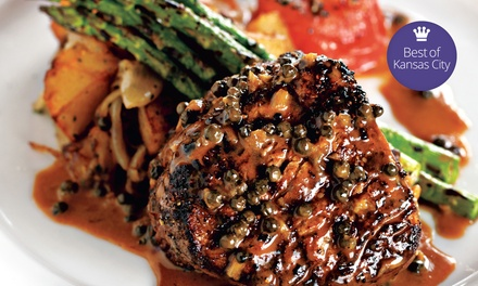 Steak-House Cuisine for Dinner or Brunch at Gaslight Grill (Up to 50% Off). Four Options Available.