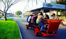 Two-Hour Pedal-Pub Tour for Two or Four, or a Private Two-Hour Pedal-Pub Crawl for 15 from Pediwagon (Up to 57% Off)