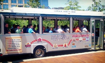 Trolley Tour and Harbor Cruise for One, Two, or Four from CityView Trolley Tours (Up to 54% Off)
