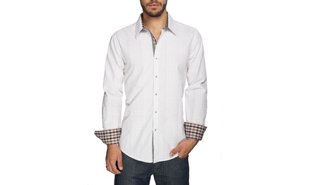 Men's Textured Button-Down Shirt