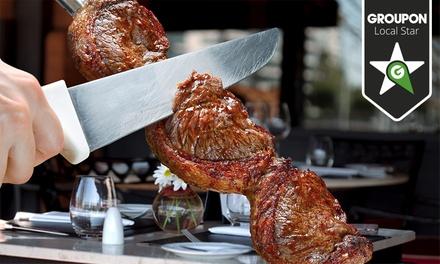 Boizão Grill — 3 localizações: rodízio para 2 ou 4 com carnes, buffet, acompanhamentos, bebidas e cafés desde 19,90€