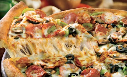 Pizza and Drinks at Papa John's Pizza (Half Off). Three Options Available.