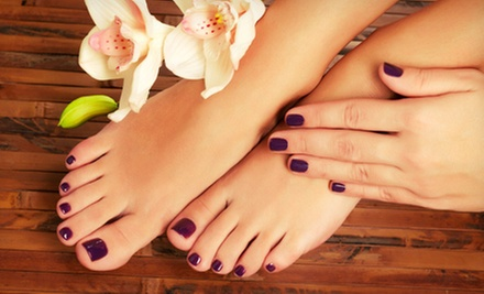 One or Two Regular Manicures and Deluxe Pedicures at Nails Now (Up to 56% Off)