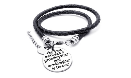 Menpura The Love Between a Grandmother and Granddaughter is Forever Charm Wrap Bracelet