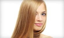 Keratin Hair-Smoothing Treatment or a Cut-and-Color Package at Hair International (Up to 61% Off)