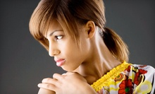 Haircut and Conditioning with Optional Color, Relaxer and Color, or Partial Highlights at Salon Forbici (Up to 53% Off)