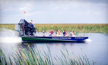 Airboat Tour and Exhibit Pass for Two or a Gator Tour for Two from Sawgrass Recreation Park in Weston (Up to 51% Off)