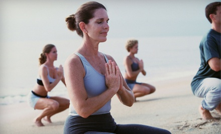 One Month, 20 Classes, or a Season Pass for Beach Yoga from Encompass Yoga (Up to 83% Off)