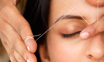 Eyebrow-Threading Session with Optional Upper Lip Threading at Threading Place (Up to 50% Off)